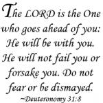 Deuteronomy 31 vs 8 script