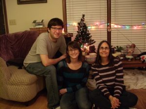 David, Michelle, me & Flash (above my head) Christmas 2012