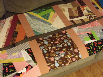 detail of rows 1 & 2 of my quilt WIP