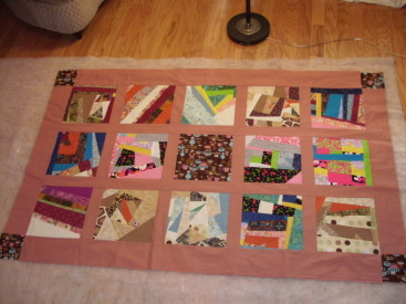 Coffee Beans Means Love to Me quilt top