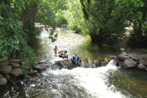 kids tubing on Boulder Creek
