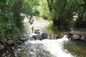 kids tubing on Boulder Creek