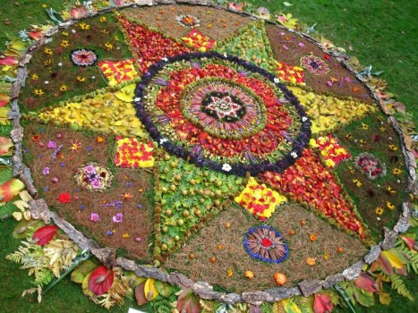 Mandala in Royal Botanic Gardens, copyright Karen Shewan Art