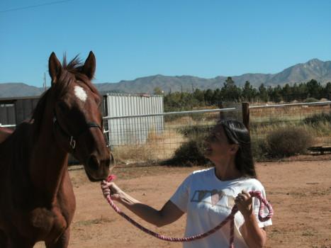 Me & Leggy Lady on the compound ~November 2010