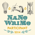NaNoWriMo participant 2014 button