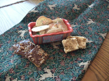 Bruno's Toffee Squares, (Great) Grandma Thoman's Sugar Cookies, Cheesecake Cookies