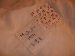 M Quilt Label