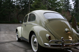 1959 olive green vw bug