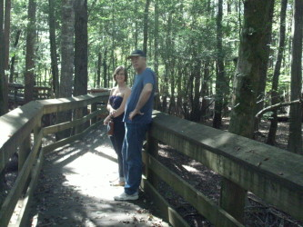 Terry and Michelle at Lynches River/Swamp (October 2014)