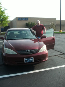 Terry and our 2003 Toyota Camry, where it reached 300K