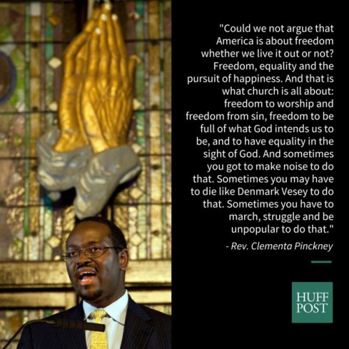 Clementa Pinckney quote Huff Post