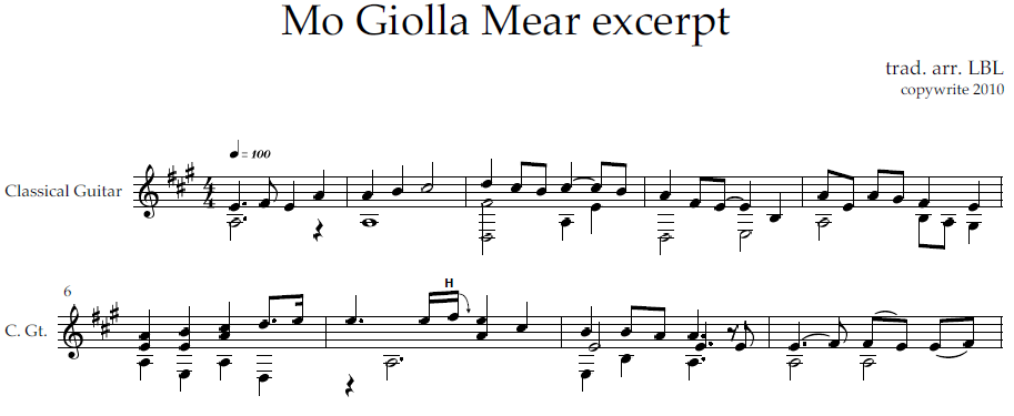 Mo Giolla Mear excerpt