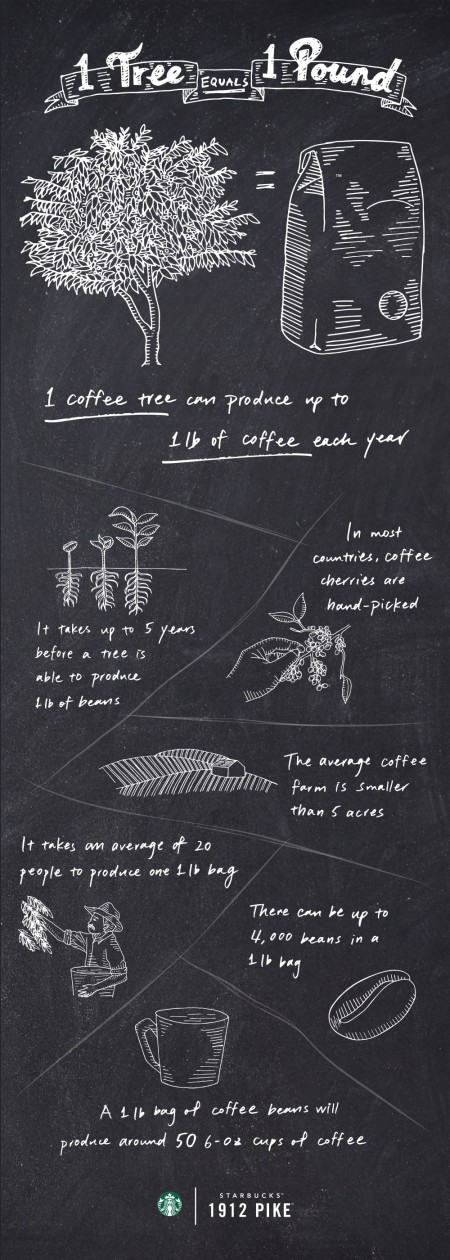 one tree equals one pound coffee