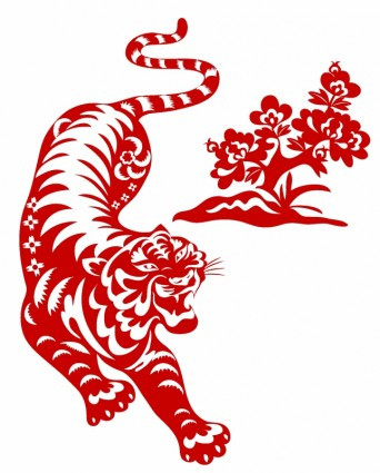 Chinese red tiger