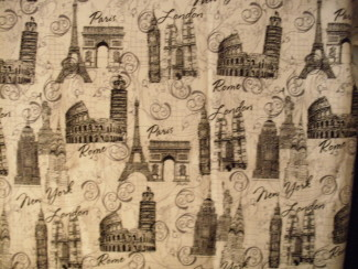 london, paris, rome, (new york) fabric
