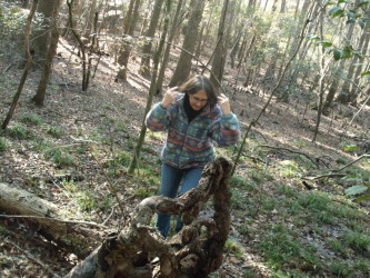Me finding a prime stump at the Lynches River Swamp (2014)