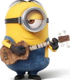 stuart minion with ukulele