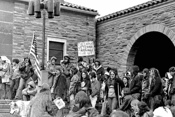 CU student protests in the 1970's, a common occurrence photo by Juan Espinoza