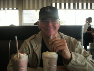 Dick with his first side by side milkshake