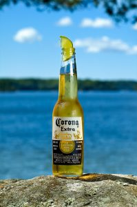 corona with lime wedge