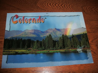 Colorado post card to ma and dad