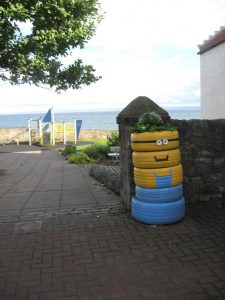 minions recycled tires, fife