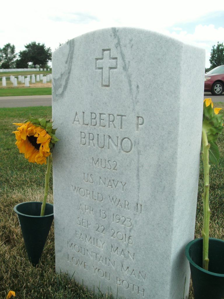 Albert P. Bruno headstone Ft. Logan