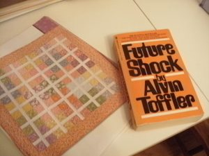 Dora Quilt and Future Shock Book