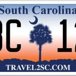 sc license plate orange & blue scheme