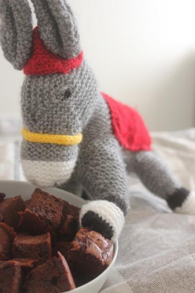 Dizzy loves her brownies!