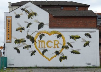 northern manchester bee art russell meeham