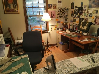sewing sanctuary set up