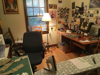 sewing sanctuary set up
