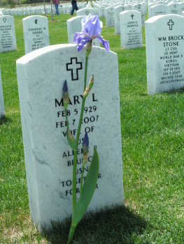 Mary Lou Mawicke Bruno headstone, Ft. Logan