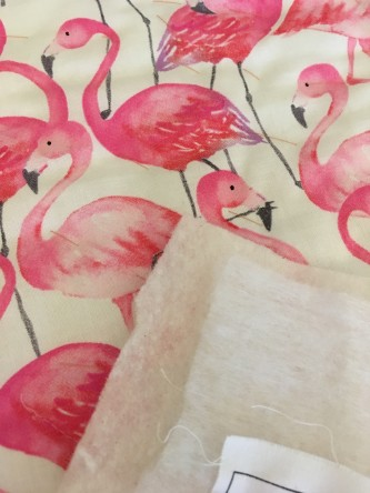 Pink Flamingo Wall Hanging Backing Fabric & Battings