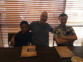 The Guys: my cousin Kayden (Gail's son), my hubby Terry, Uncle Dennis (my Dad's younger brother)