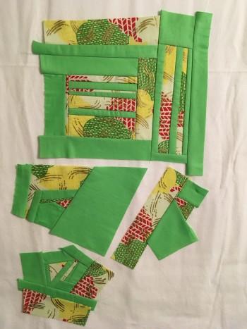 African fabric scraps