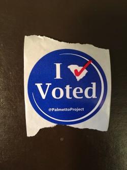 I Voted Palmetto Project Sticker