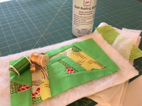 Sample African Fabric quilt sandwich