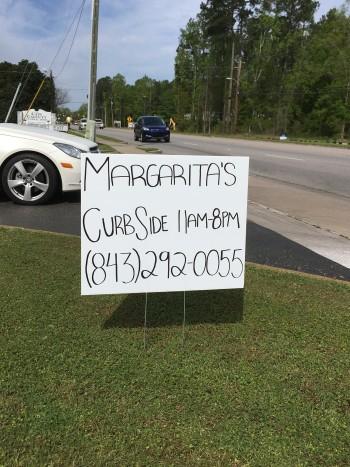 Margarita's Curbside Sign