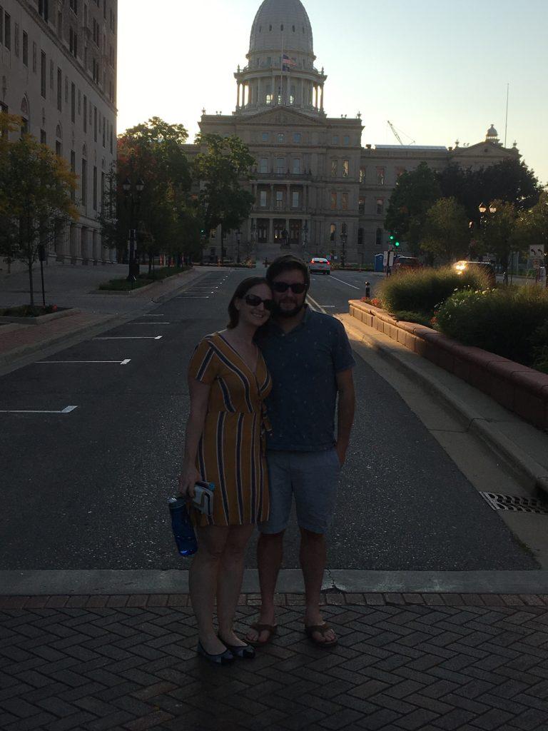 Michelle & David Lansing, MI capitol
