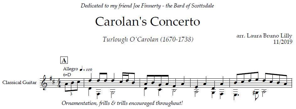 Carolan's Concerto excerpt