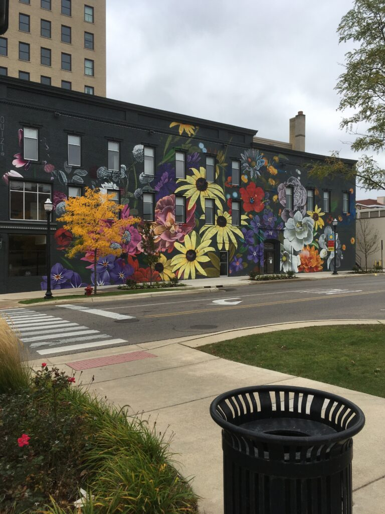 Flower mural Jackson, Michigan